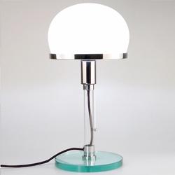 Artimeta bureaulampje met glazen kap