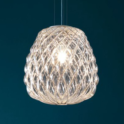 Mondgeblazen hanglamp van Fontana Arte