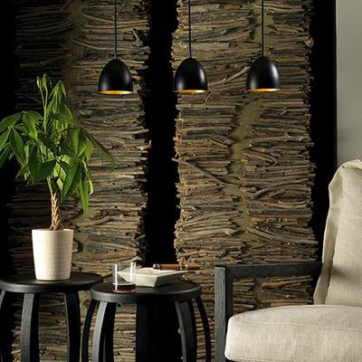 Zwarte NOSTA arthur hanglampjes met gouden interieur voor warm licht
