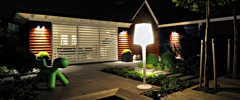 tuin- en buitenverlichting voor verlichtingsproject